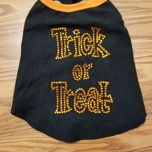 Trick or Treat rhinestone pet outfit